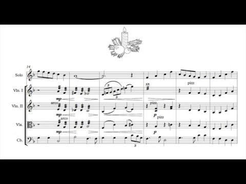 Have yourself a merry little christmas (String quartet + solo violin)