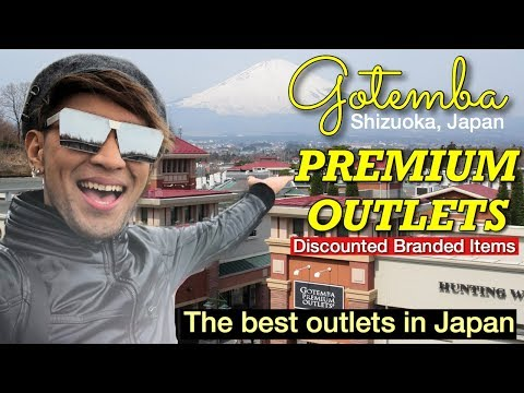 GOTEMBA PREMIUM OUTLETS | Discounted BRANDED Items | The Best Outlets in Japan | Shizuoka Japan