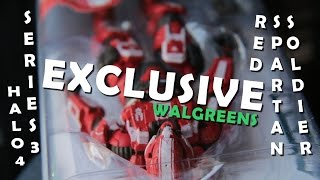 Halo 4 Series 3 Red/White Spartan Soldier Walgreens Exclusive Action Figure Review