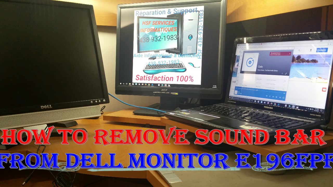 How to remove sound bar/speaker from DELL monitor E197FPf