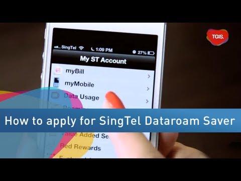 TGIS - How To Activate SingTel Dataroam Saver Plan On MySingTel App