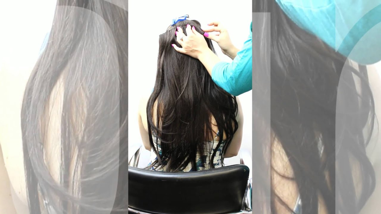 How To Apply Clip In Hair Extensions New Volumizing Clip In Piece