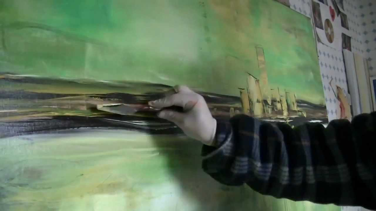A New Abstract Painting Live Painting Demonstration By Zacher