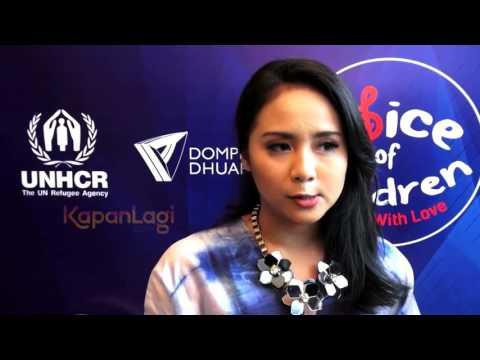 Gita Gutawa Selalu Peduli Anak-Anak