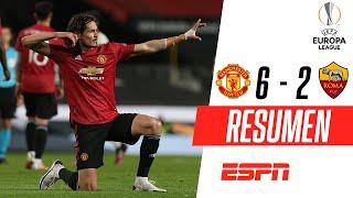 ¡DOBLETE DE CAVANI, SET AND MATCH! | Manchester United 6-2 Roma | RESUMEN