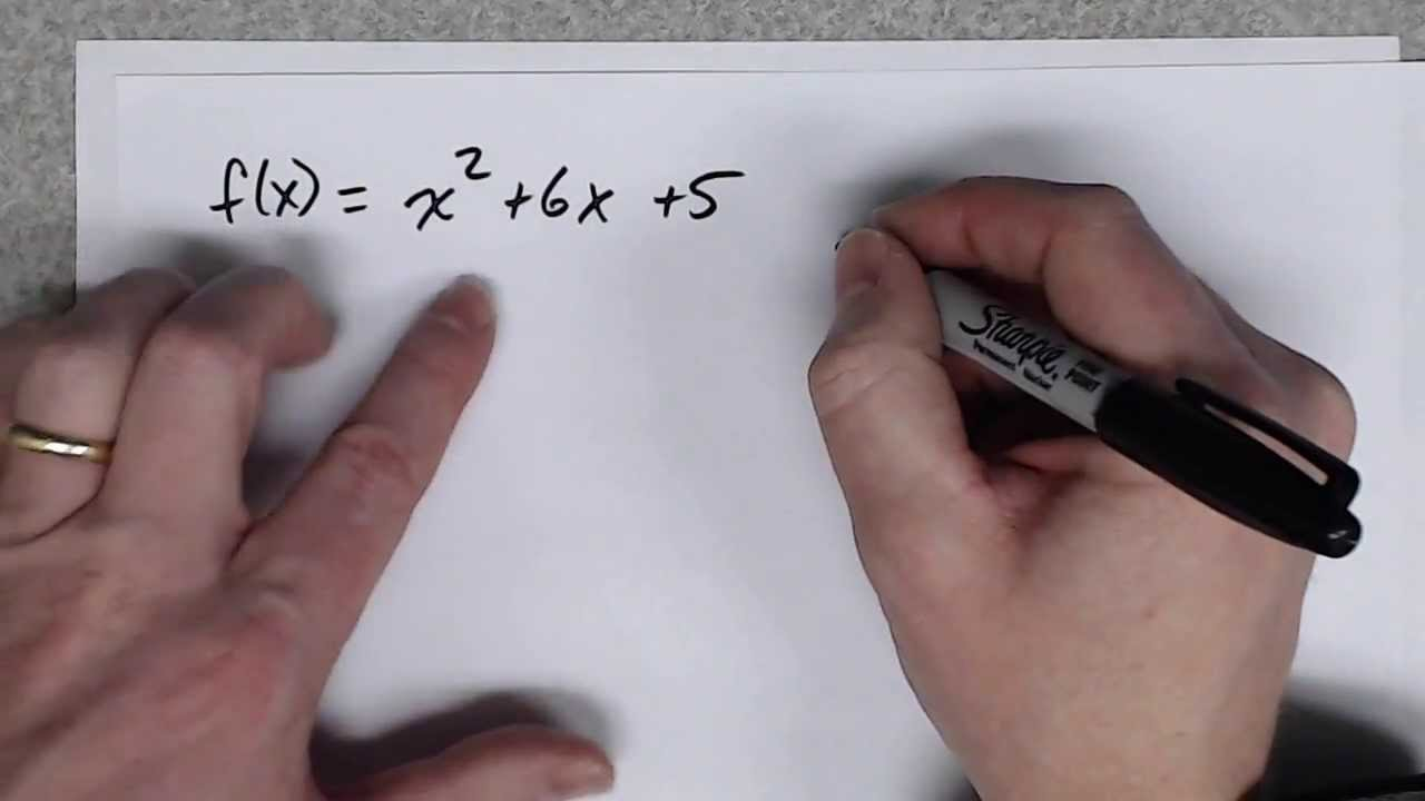 Convert Quadratic Function To Vertex Form By Completing The Square