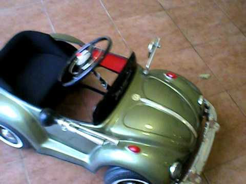 vw bug beetle pedal car green for kids bug pedal car