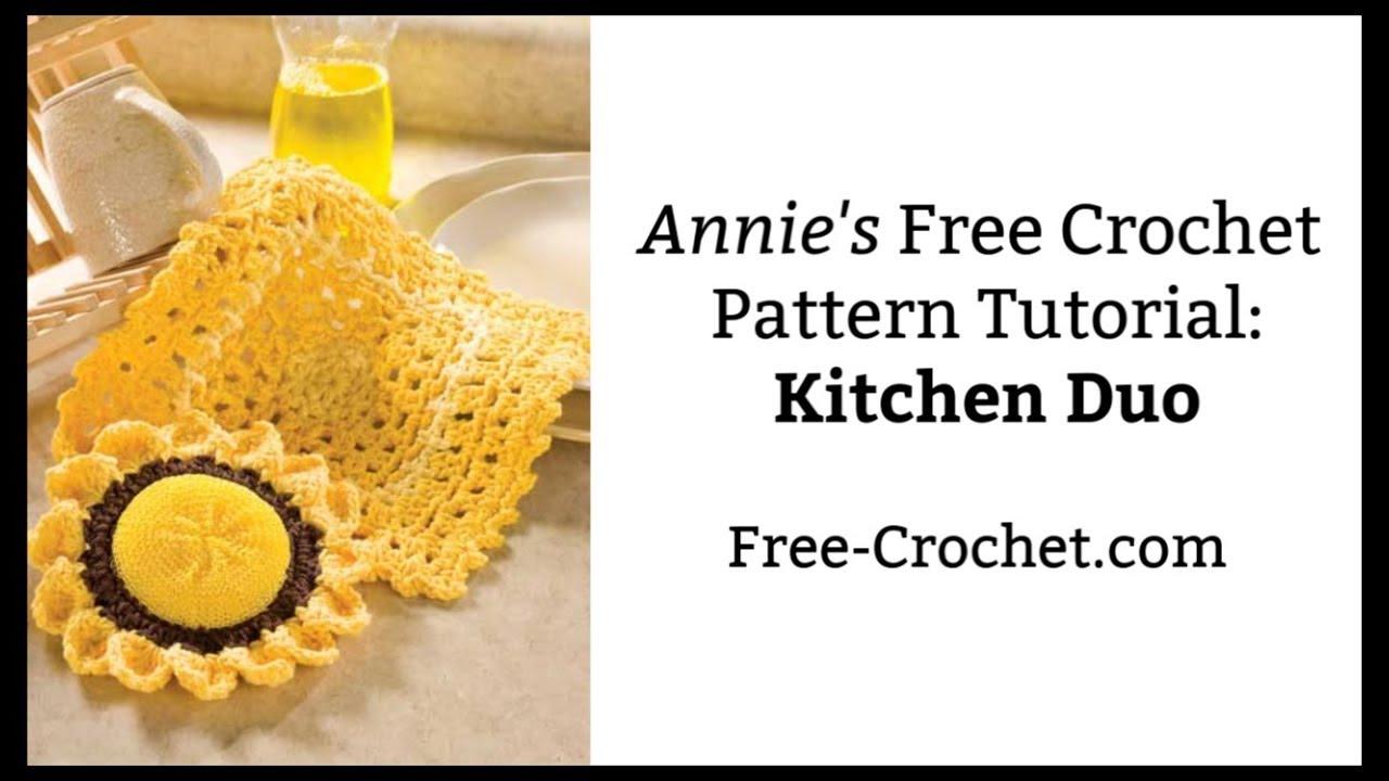 Crochet Kitchen Duo An Annie S Free Crochet Pattern Tutorial Youtube