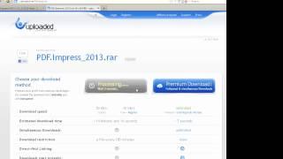 Как скачать бесплатно с uploaded.net видео урок инструкция