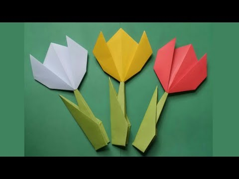 DIY:Easy Paper Tulip !!! How to Make Origami Tulip Flower !!!