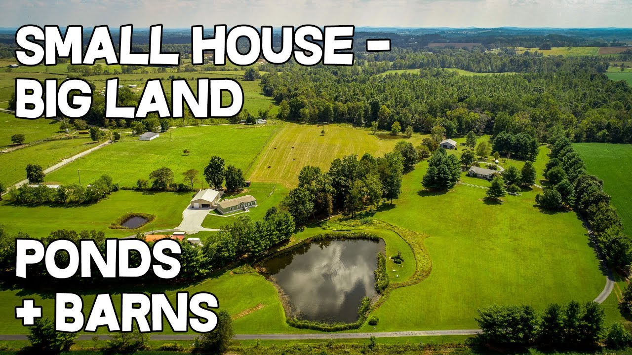 Small House Big Land 24 Acre Farm Pond Barns 2 Houses Metal Shop Home Land For Sale Kentucky Youtube
