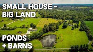 Small House - Big Land 24 Acre Farm. Pond+barns, 2 Houses, Metal Shop Home + Land For Sale Kentucky