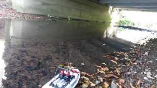 Beefy rc my first run with the stock nqd tear into jet boat