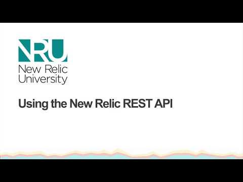 Using the New Relic REST API Tutorial