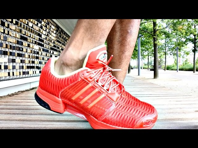 Trying on ADIDAS CLIMACOOL X COCA COLA TRAINERS full review - YouTube