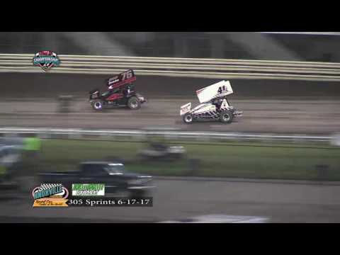 Knoxville Raceway 305 Highlights June 17, 2017