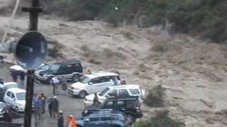 Hemkunt Sahib Gobind Ghat Flood day on 15 june 2013