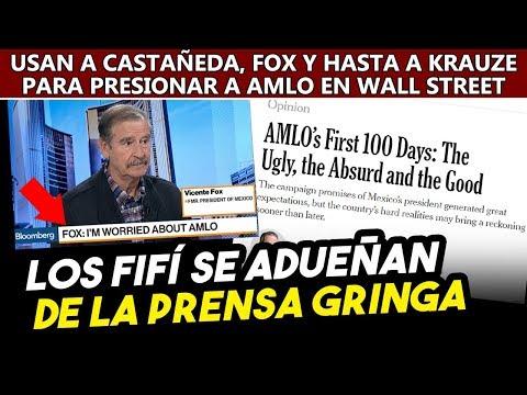 Fox, Krauze y Castañeda se adueñan de la prensa en USA para presionar a AMLO con Wall Street