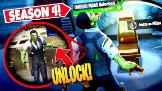 *NEW* UNLOCKING UNDEAD MIDAS *SKIN* BY EMOTING NEAR GOLDEN CHAIR! (Battle Royale)