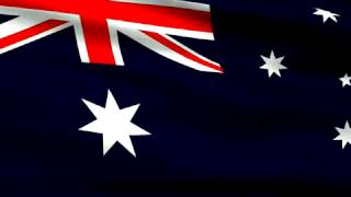 Flag of Australia looping background