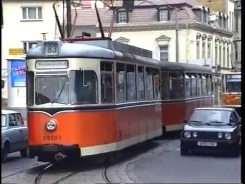 Vergangenheitsbewältigung 1 - East Berlin Tram Ride Köpenick Adlershof Friedrichstrasse in 1990s