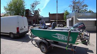 Отгрузка лодки Girgis 390DK Yamaha 30лс. Центральная консоль. Новый Владимир)