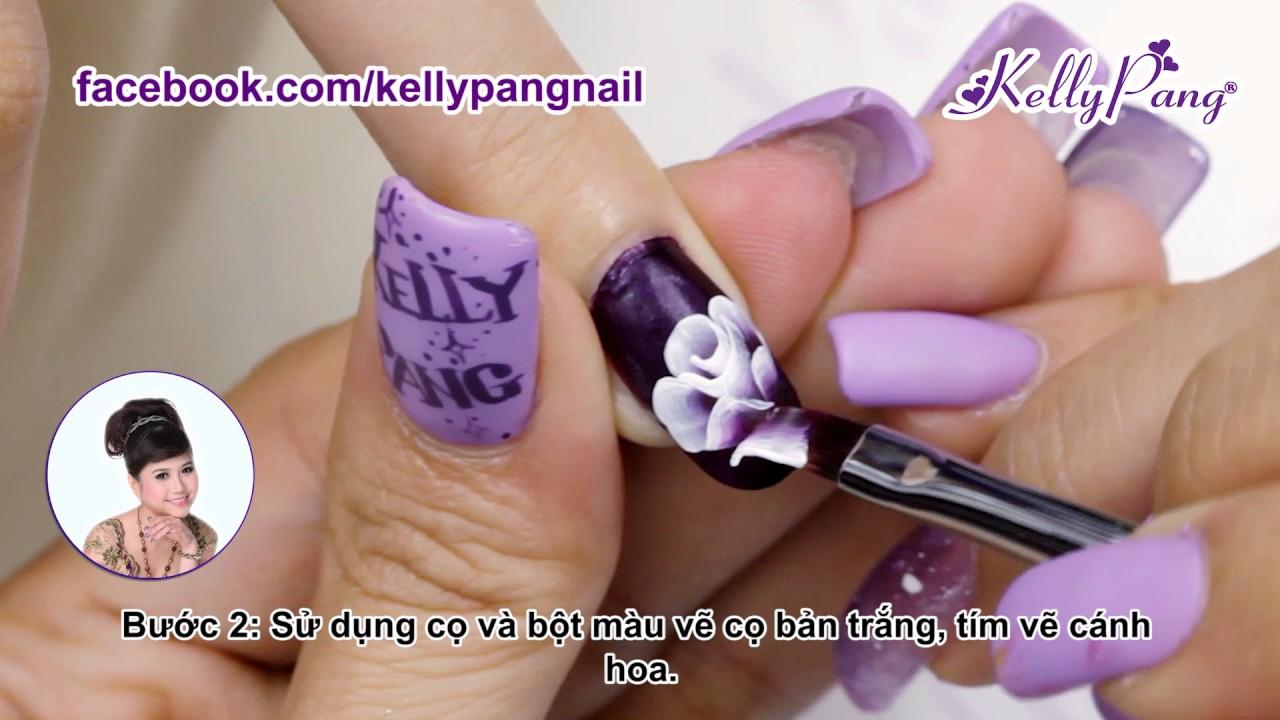 Học vẽ móng - Vẽ cọ bản Nét đẹp hoàng gia | KellyPang Nail - YouTube