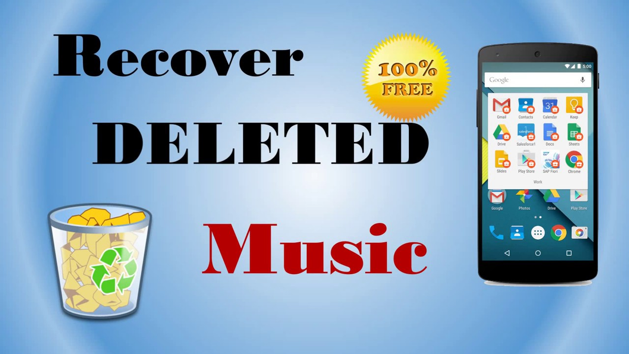 Free to Recover Deleted Music, Audios & Voice Recordings on Android