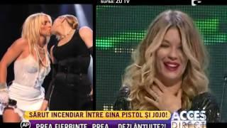 Sărut fierbinte între Gina Pistol şi Jojo!