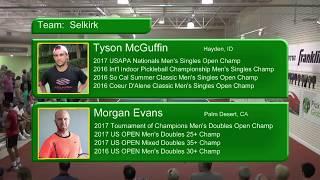 Pickleball Global Challenge Cup 2018   Match 3   Men's Doubles   Kyle Yates   Aspen Kern VS Tyson Mc
