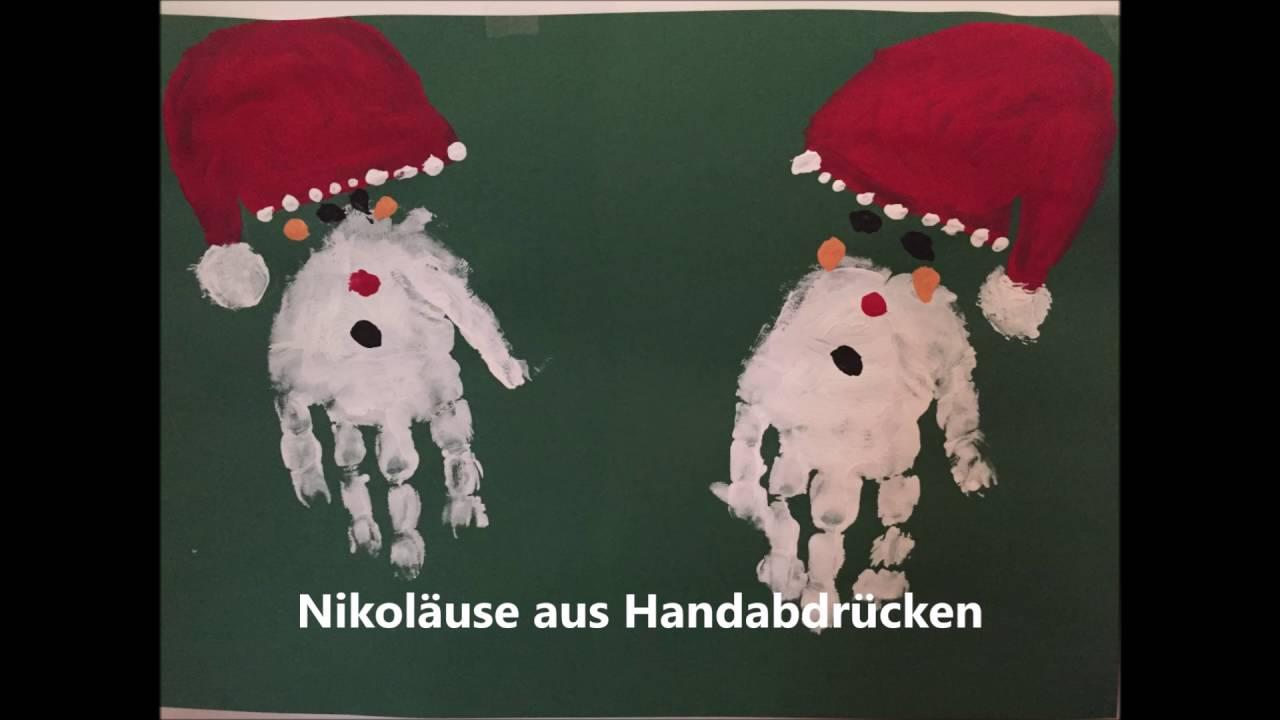 Weihnachtsbilder Aus Hand Fußabdrücken Youtube