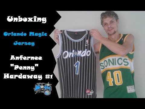 huge selection of 9a2ad 5f0f8 Unboxing - Orlando Magic Jersey - NBA - Anfernee Penny Hardaway #1 -  AliExpress
