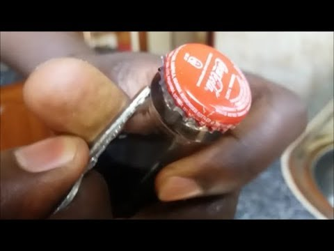 how to open a bottle with a key