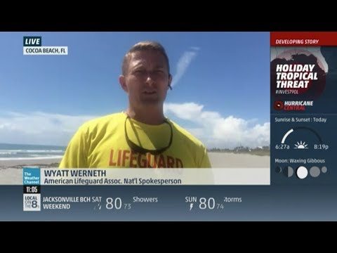 American Lifeguard talks about beach safety on the Weather Channel