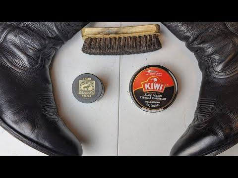 Bickmore Creme Polish Vs Kiwi Shoe Polish On Cowboy Boots