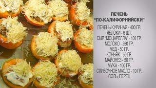 Куриная печень / Куриная печень рецепты / Куриная печень с яблоками и медом / с коньяком