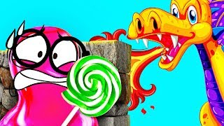 Pink SLIME VS the Red Dragon: Epic Battle
