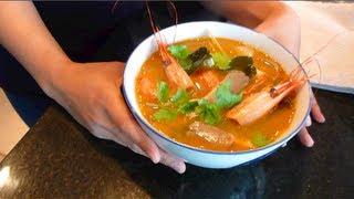Tom Yum Goong Recipe ต้มยำกุ้ง - Hot Thai Kitchen!