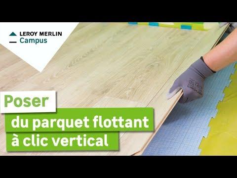 comment poser du parquet flottant à clic vertical seul (1 personne