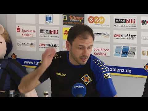 Pressekonferenz der TuS Koblenz nach dem Spiel gegen Schott Mainz
