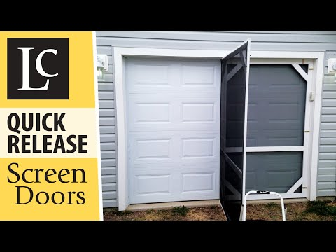 DIY Garage Screen Doors - Quick Release / Hinged