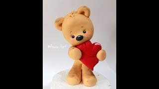 Лепим Мишку из мастики.Teddy Bear Tutorial! Teddy Bear cake topper. Bär aus Fondant