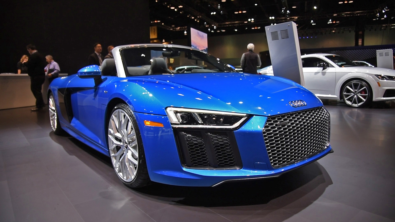 2017 Audi R8 V10 Spyder First Look 2017 Chicago Auto Show Youtube