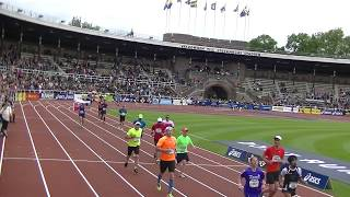 Stockholm Marathon 2017 - finish with Slovak national flag