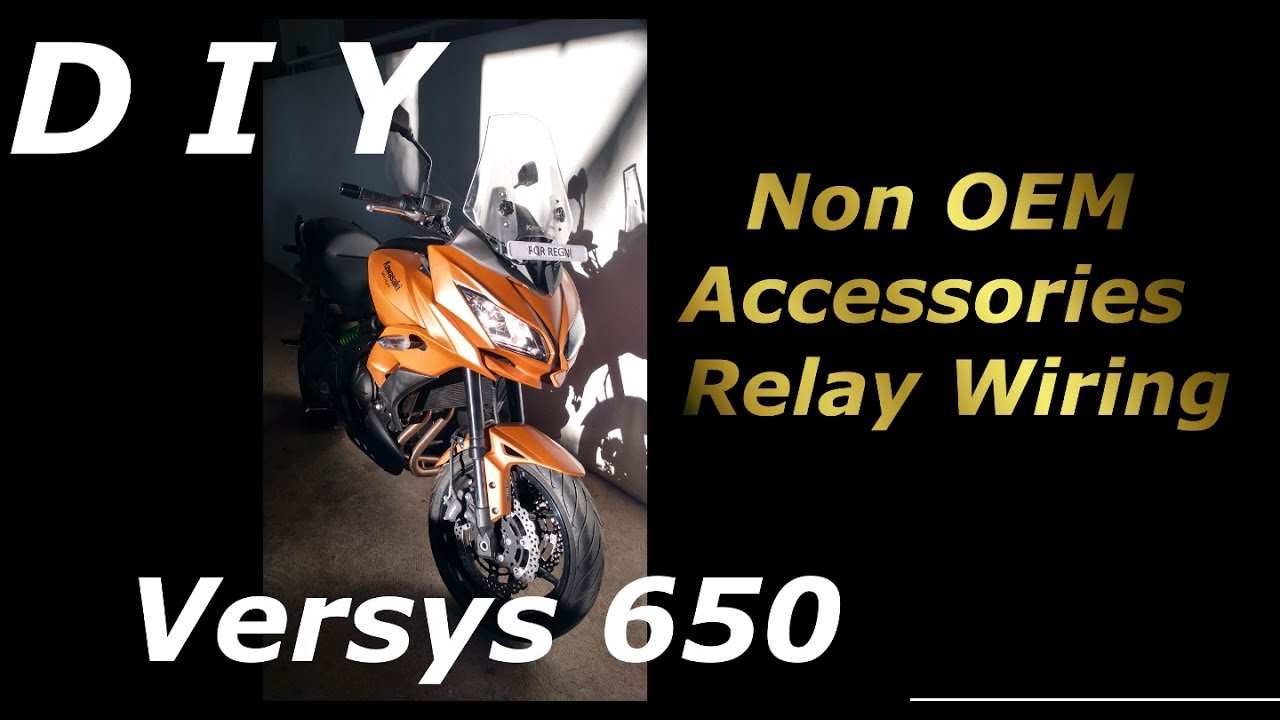 kawasaki versys wiring diagram versys 650 non oem relay for accessories youtube  versys 650 non oem relay for