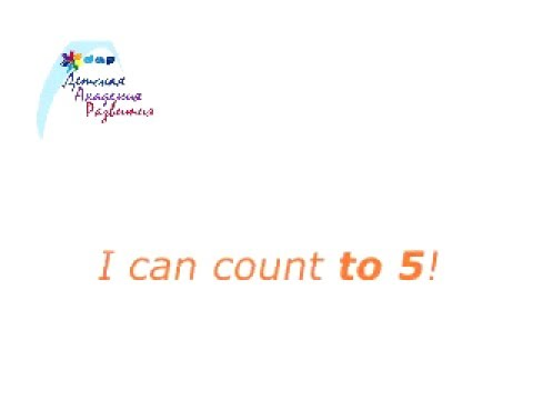 ENGLISH - I can count