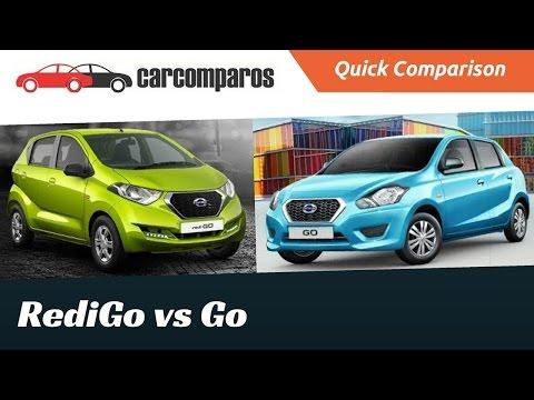 Datsun Redi Go vs Datsun Go Comparison Review