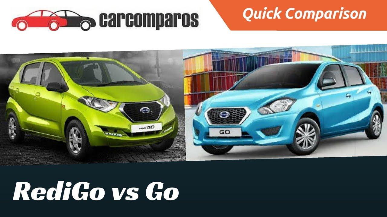 Datsun Redi Go vs Datsun Go Comparison Review - YouTube