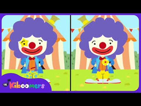 Circus Clown | Song for Kids | Spot the Differences | The Kiboomers