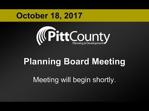 Pitt County Planning Board meeting for 10/18/2017